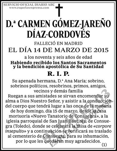 Carmen Gómez-Jreño Díaz-Cordovés